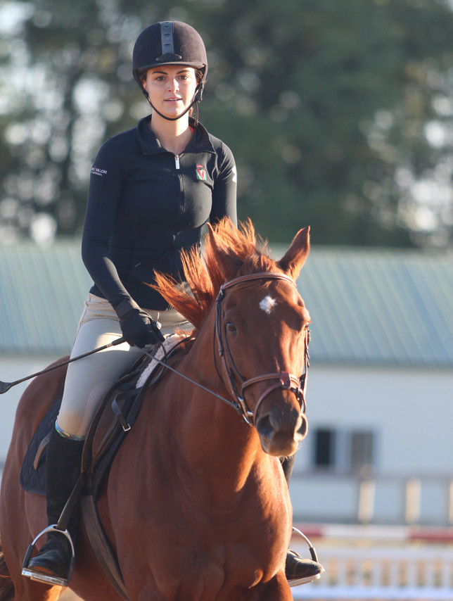 BRI MOTT rides Red in preparation for Real Rider Cup. (Photo submitted)