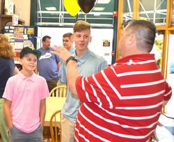 Adkins talks to students