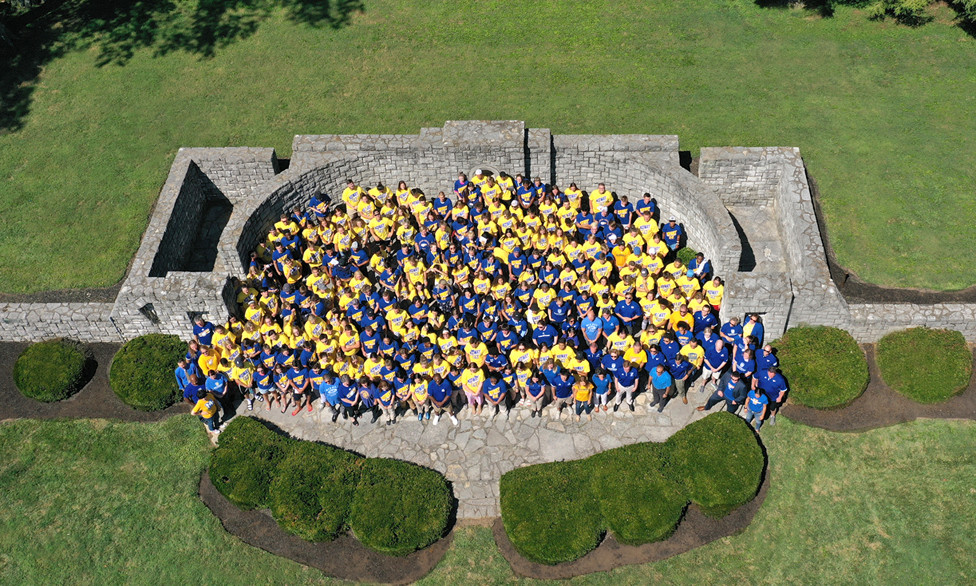 MIDWAY UNIVERSITY STUDENTS, faculty and staff gathered in the campus amphitheater as the 2019-20 academic year began last week. (Midway University photo)