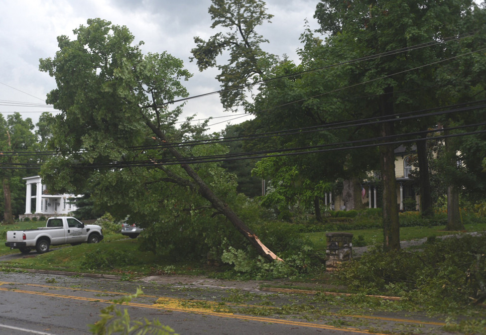 MANY WOODFORD COUNTY residents were without power for nearly a week after the July 20, 2018  storm that tore through Central Kentucky. So many trees were downed that afterwards, Woodford Emergency Management Director  Chandler said, tongue only partly-in-cheek, that it would be easier to count the ones still standing. Tips on how to prepare for all sorts of disasters can be found at the Department of Homeland Security's website, www.ready.gov. (File photo by Bob Vlach)