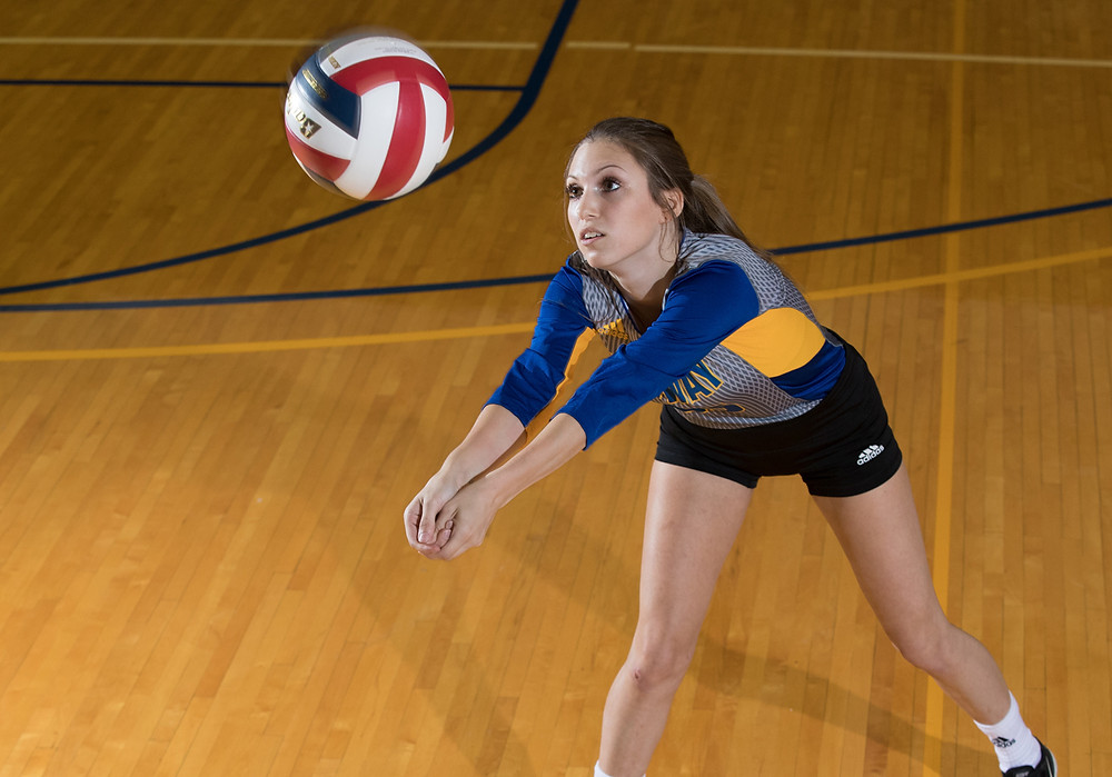 JUNIOR LIBERO Hannah Payne accomplished a milestone on Saturday, Sept. 9, when she collected the 1,000th dig of her career. She tallied 34 total digs in the doubleheader against Fisk University. (Midway University photo)