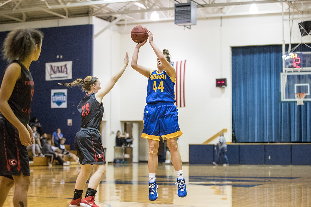 COURTNEY PFISTER, a senior from Mt. Washington, Ky., led the way with 15 points to go with five rebounds in Midway's 67-51 win over Ohio Christian University. Pfister went 6-of-10 from the floor, while going 3-of-4 from the charity stripe. (Midway Athletics photo)