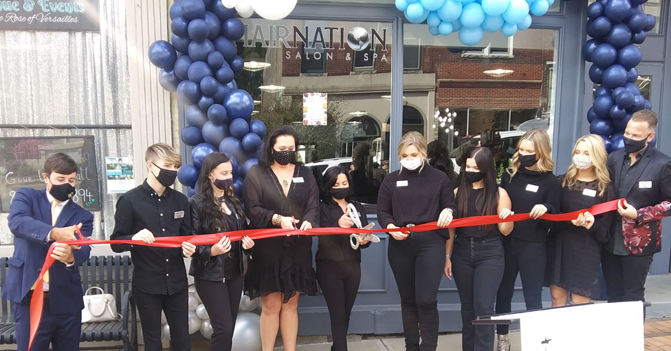 Hair Nation ribbon cutting