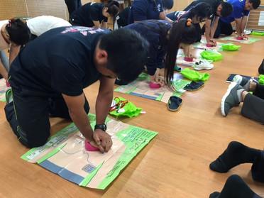 宮古島の学校で初となるPUSH、エピペン講習会を開催しました。