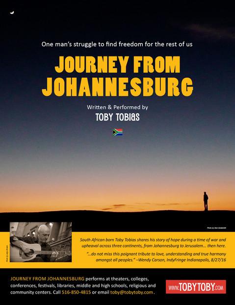 Journey From Johannesburg Info Sheet - front