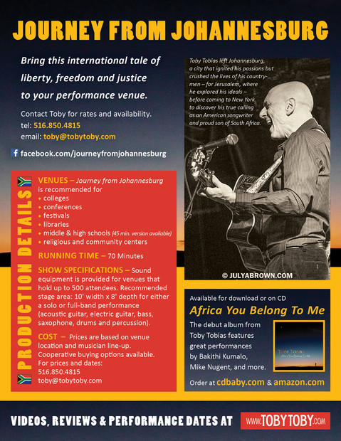 Journey From Johannesburg Info Sheet - back