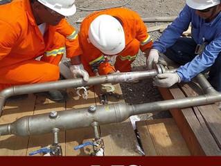 Montagens e interligações de tubulações de vapor