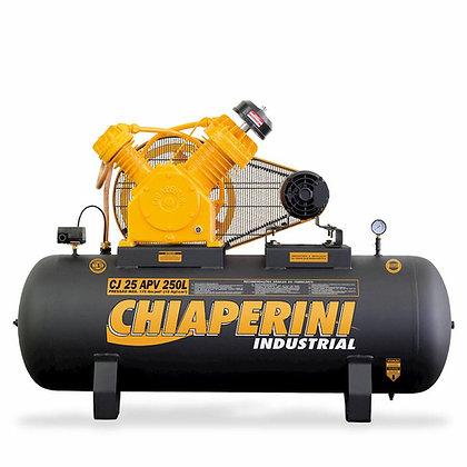 Compressor de ar alta pressão 25 pcm 250 litros - Chiaperini CJ 25 APV 250L