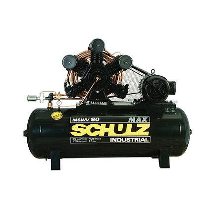 Compressor de ar SCHULZ - MSWV 80/425 MAX - 80 PES 425 LITROS 175 LIBRAS 220/380