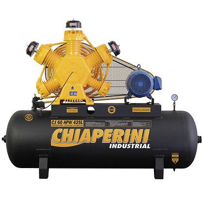 Compressor de Ar Industrial Intermitente Trifásico 60 Pés 425 Litros - Chiaperin