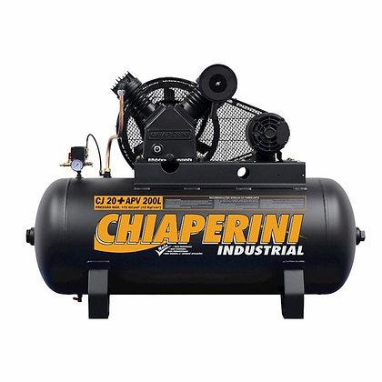 Compressor de ar alta pressão 20 pcm 200 litros - Chiaperini CJ 20+ APV 200L