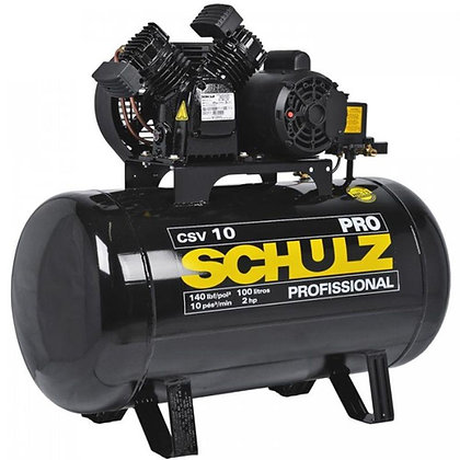 Compressor de Ar 10 Pés 100L 2HP 140PSI Monofásico - SCHULZ-PROCSV10/100