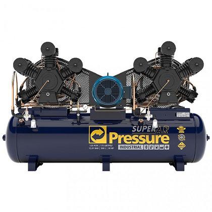 COMPRESSOR PRESSURE SUPER AR 120 500 LITROS 175 LIBRAS 30 CV TRIFÁSICO