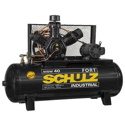 Compressor De Ar Schulz Fort Msw 40 Pés 425 Litros 10 Cv Trifásico 220V