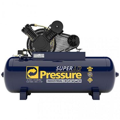 Compressor Pressure Super Ar 25 250 Litros 175 Libras 5 cv Trifásico IP55