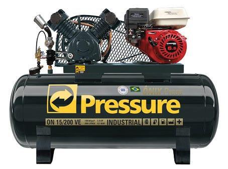 Compressor de Ar a Gasolina Pressure 15 Pes 200 Litros 140 Libras