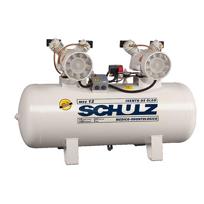 Compressor de Ar Odontológico 183 Litros 12PCM MSV 12/200 - SCHULZ