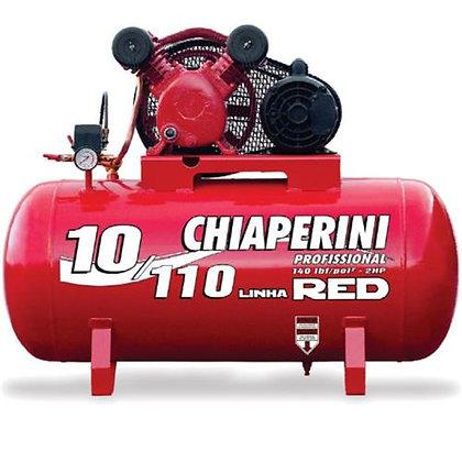Compressor de Ar Aberto, 110 Litros, 2 HP, 1,5kW, Monofásico - 10/110 Red - Chia