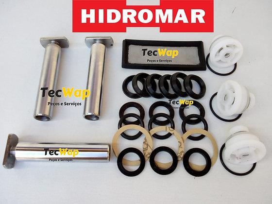 Kit Reparos Completo + Pistão 30mm Hidromar Antiga Com Válvulas BH 6100 30mm