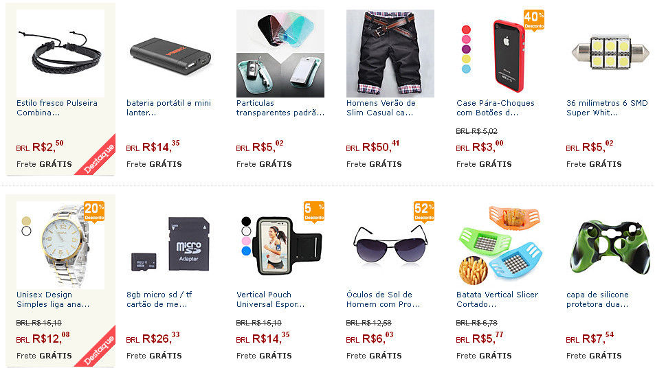 imagem do site Aliexpress