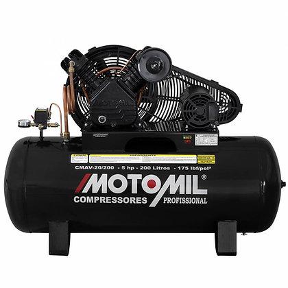 Compressor de ar industrial alta pressão Motomil CMAV-20/200