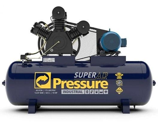Compressor Ar 40 Pés 175 Psi 425 L 220/380v Trif Pressure