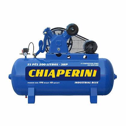 Compressor De Ar Alta Pressão 15 Pcm 200 Litros – Chiaperini 15/200 Blue