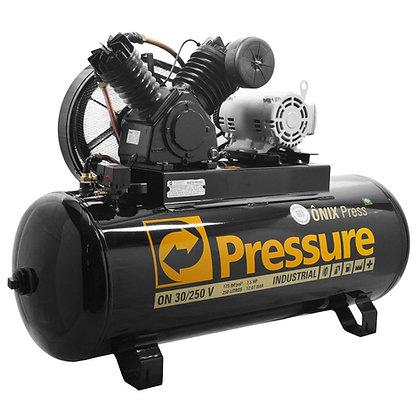 Compressor De Ar 30 Pés 250 Litros Pressure Ônix 30/250 V