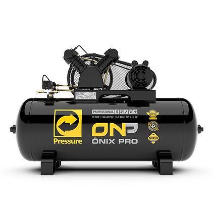 Compressor de Ar 15/175l Ônix Pro 140psi Trifásico Pressure