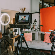Studio mit Ausstattung