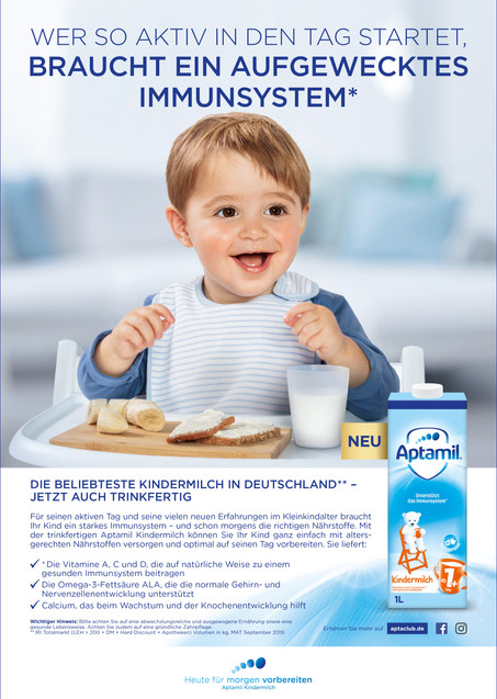 Client: Danone Aptamil, Agency: Change Communication GmbH