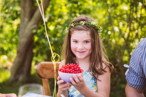 Girl with berries