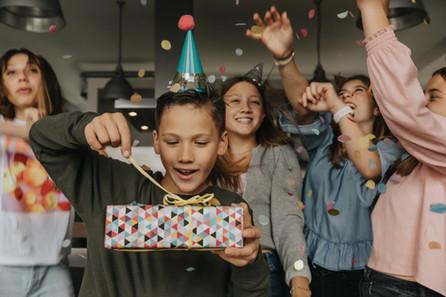 Birthday party of a boy
