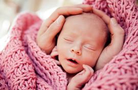 Baby in hands