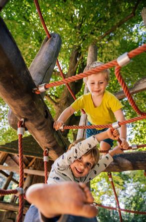 Kids climbing