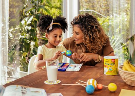 Ninho photographed for Nestlé