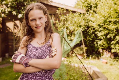 Girl who loves gardening