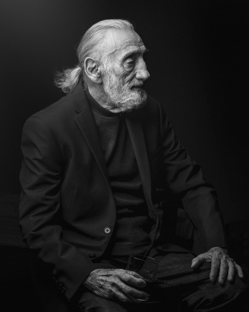 Portrait of the grandpa  was shot by Nar