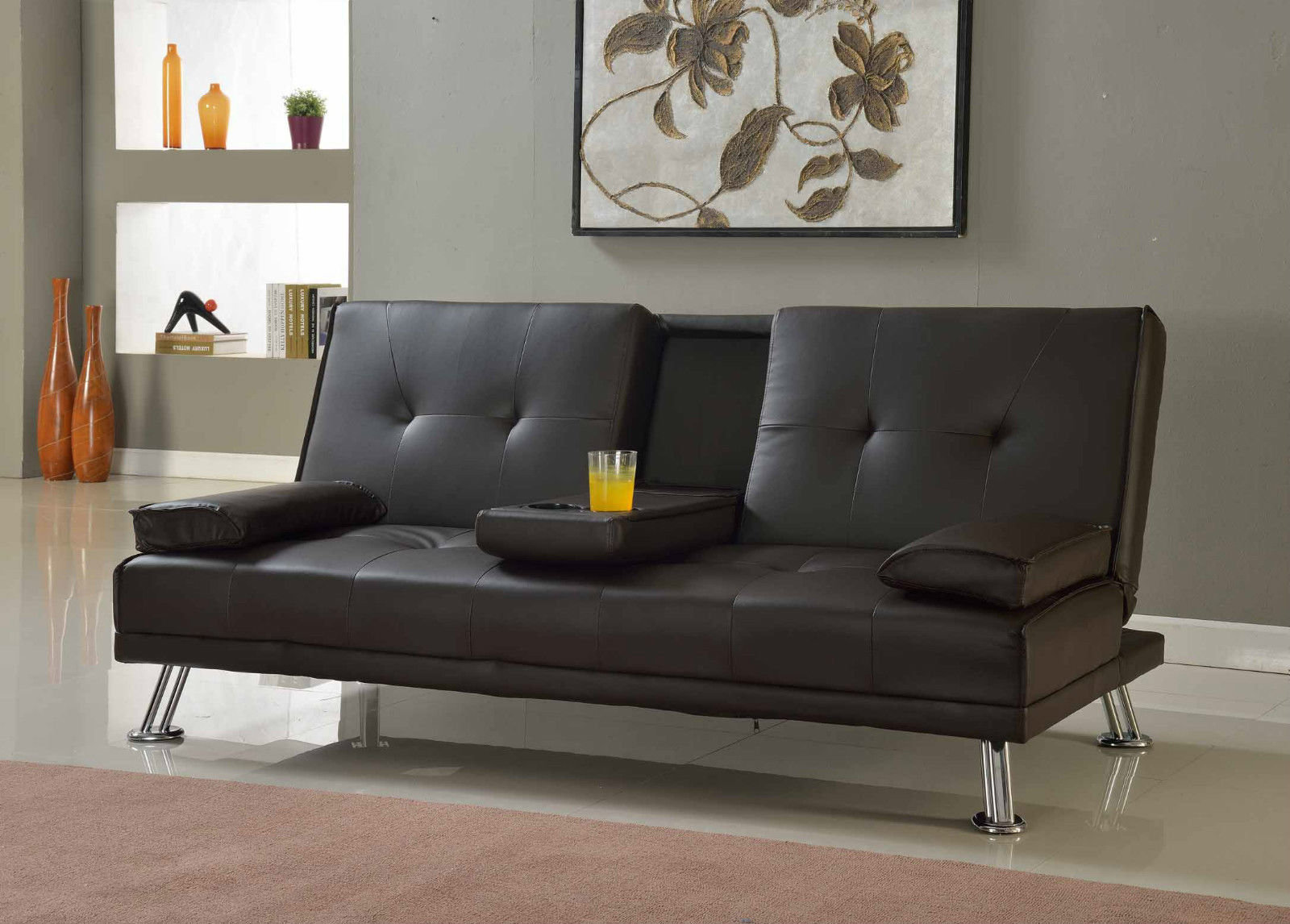 Pleasing Cinema Sofa Bed With Cup Holder Squirreltailoven Fun Painted Chair Ideas Images Squirreltailovenorg