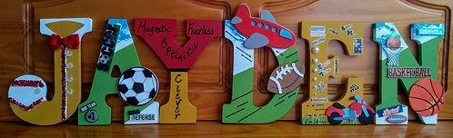 Sporty Wall Art for Kids Room