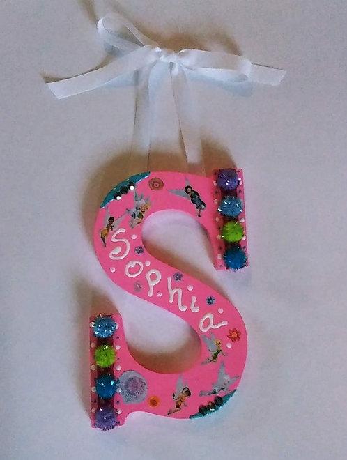 "Wall Hanging Decor Letter ""S"" for SOPHIA"