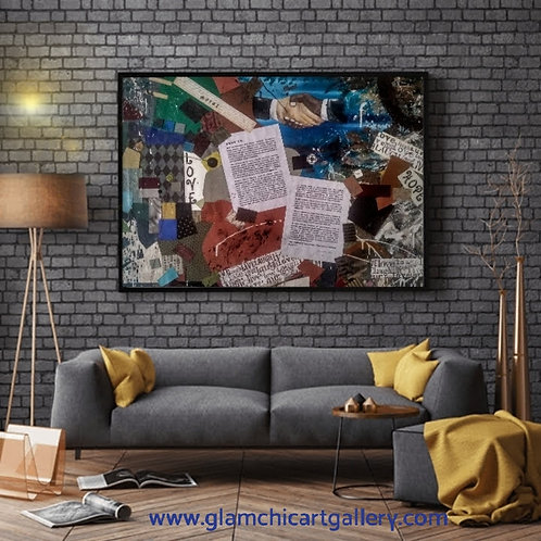 Mixed Media Large Canvas Art
