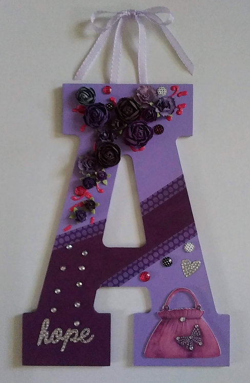"Wall Hanging Decor Finished Wood Letter ""A"""