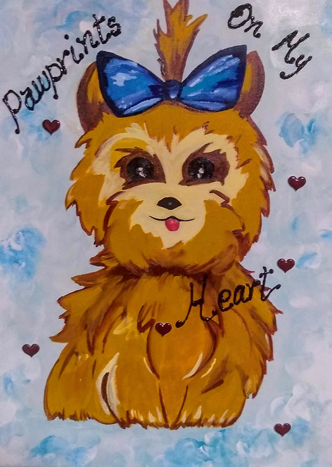 Original Painting of a Yorkie Dog