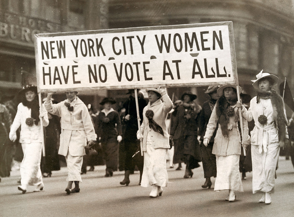 Women gained the right to vote in New York in 1917