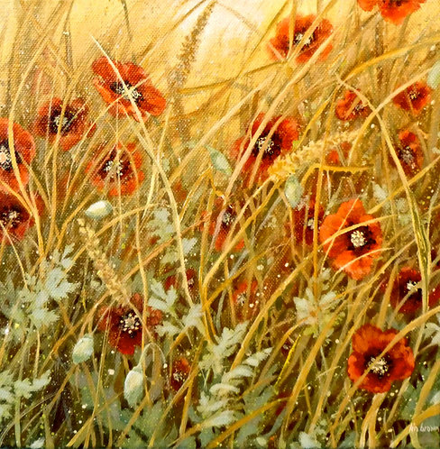SOLD Among the summer grasses....