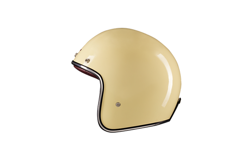 CAPACETE CAFE RACER GLOSSY CREAM