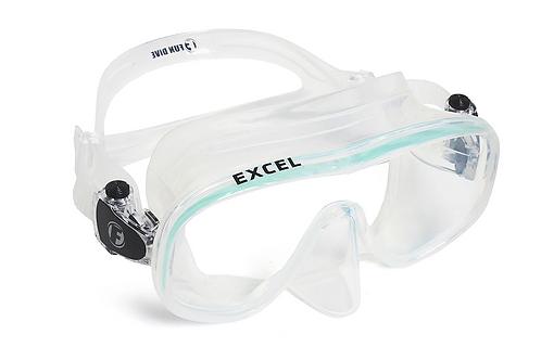 """EXCEL - Máscara de mergulho lente única sem armação """"No Frame"""" em silicone"""