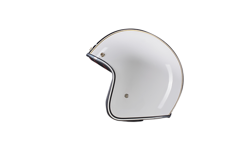 CAPACETE CAFE RACER GLOSSY WHITE BLACK