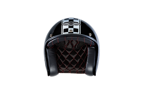 CAPACETE CAFE RACER GLOSSY BLACK